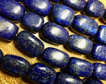 Lapis Dyed Gemstone Variable Sized Nuggets 16mm x 12mm Approx. 11 Beads per 8 inch strand