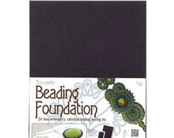 Beading Foundation Black 4 Sheets 8.5 x 11 inches 4 pcs