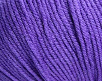 Clearance Purple Hyacinth Cascade 220 Superwash Yarn 220 yards 100% SuperWash Wool color 1986