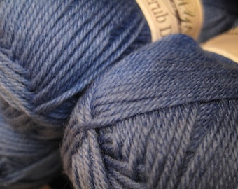 Clearance Super Soft Classic Blue Cascade Cherub DK Yarn 180 yards Acrylic Nylon Blend Color 34