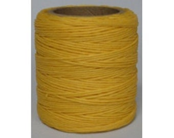 "Waxed Polyester Cord Yellow Maine Thread .040"" 1mm cord Waxed Cord Bracelets Wrap Bracelets Made in the USA One Spool 70 yards"