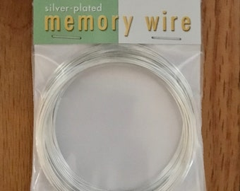Memory Wire Silver Plated Beadsmith Bracelet 2-1/2 inch Diameter 1 Ounce Package