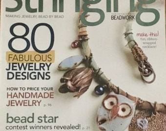 25% OFF Stringing Magazine 80 Fabulous Jewelry Designs How to Price Your Jewelry Wrapped Loop Bails Holiday Accessories February 2013
