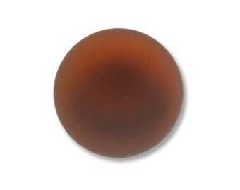 Garnet Red Lunasoft Cabochons Luna Soft Lunasilk Round Flat Back Foiled Pendant 2 pcs