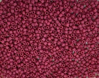 11/0 Frosted Brick Red Japanese Seed Beads 6 Inch Tube 28 grams #F408A