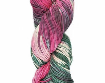 Yumbrel DK Handpainted by Araucania DK Weight Yarn 218 yards 100% Combed Cotton color 02