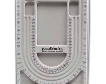"Bead Board with 3 U Channels Flocked Grey Jewelry Design Board Bead Organization 9.5"" x 13"""