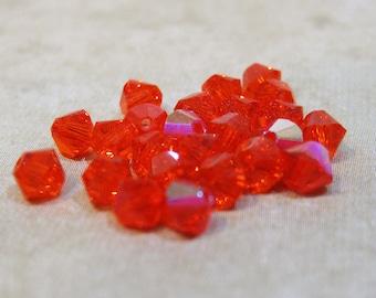 Hyacinth 5328 Bicone Swarovski Crystal Beads 4mm 24 beads