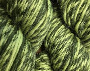 Treetop Green Color Duo Alpaca Merino Wool Yarn 197 yards Worsted Weight Color 206