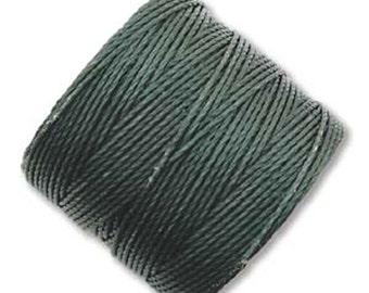S-Lon #18 Bead Cord Evergreen Tex 210 Multi Filament Twisted Nylon Cord 77 yards