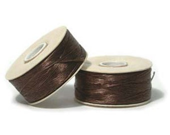 Nymo Beading Thread Brown Size D 64 yards 1 Spool