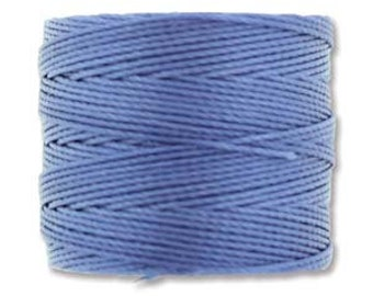 Periwinkle Blue S-Lon 210 #18 Bead Cord Tex 210 Multi Filament Twisted Nylon Cord One Spool 77 yards
