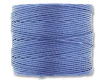 Periwinkle Blue S-Lon 210 #18 Bead Cord Tex 210 Multi Filament Twisted Nylon Cord One Spool 77 yards