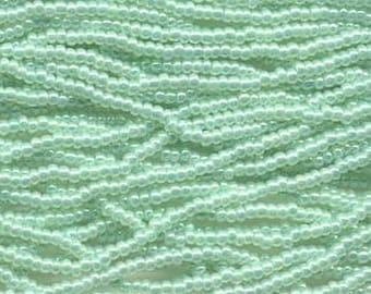 8/0 Light Green Ceylon Genuine Czech Glass Preciosa Rocaille Seed Beads 37 grams
