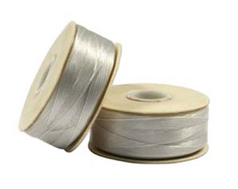 Nymo Beading Thread Sterling Silver Size D 64 yards 1 Spool Silver Thread