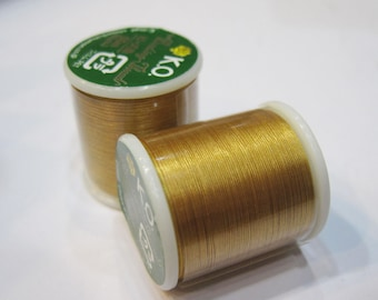 Gold KO Nylon Japanese Beading Thread 55 yards