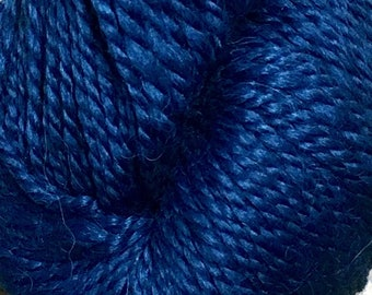 Araucania Lujoso Baby Alpaca Merino Wool Mulberry Silk Worsted Weight Yarn Color 26 Blue 164 yards