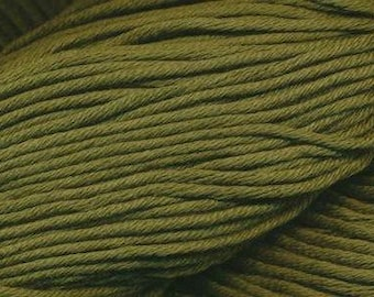 Egyptian Cotton Phoenix DK Ella Rae Yarn DK Weight 273 yards 100% Egyptian Cotton Yarn #1035 Olive