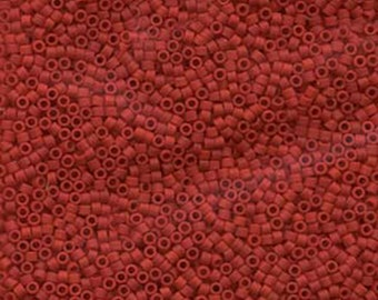 11/0 Miyuki Delica Dark Red Opaque Glass Seed Beads 7.2 grams DB0753