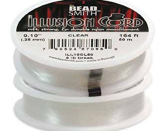 Illusion Cord Clear Nylon Monofilament .010 Inches 164 feet