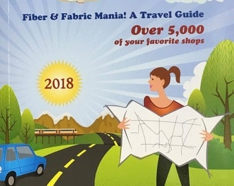 ON SALE Needle Travel Fiber and Fabric Mania A Travel Guide Over 5000 Shops Listed 2018 Edition
