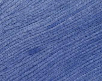 Laguna Beach Ella Rae Sun Kissed yarn DK Weight 262 yards 100% Cotton Blue Yarn Color 01