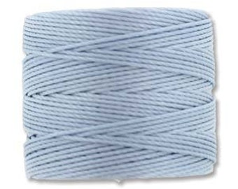 Blue Morning S-Lon 210 #18 Bead Cord Tex 210 Multi Filament Twisted Nylon Cord One Spool 77 yards