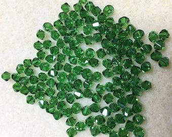 Fern Green 5328 Bicone Swarovski Crystal Beads 4mm