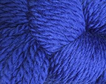 Deep Sapphire Blue Cascade 128 Bulky Superwash Yarn 128 yards 100% SuperWash Wool color 1959