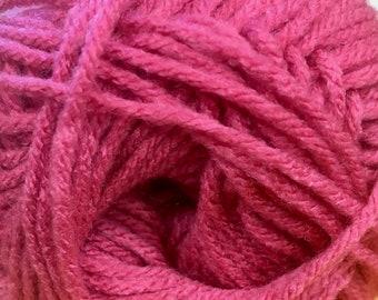 Fuchsia Rose Cascade Anthem Yarn 186 yards 100% Acrylic Color 52
