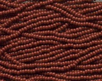 8/0 Brown Opaque Genuine Czech Glass Preciosa Rocaille Seed Beads 38 grams