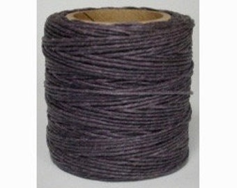 "Waxed Polyester Cord Lilac Purple Maine Thread .040"" 1mm cord Waxed Cord Bracelets Wrap Bracelets Made in the USA One Spool 70 yards"