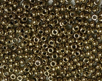 8/0 Metallic Bronze Japanese Glass Rocaille Seed Beads 6 Inch tube 28 grams #457