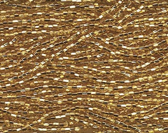 11/0 Gold Silver Lined Czech Glass Seed Beads 18 g