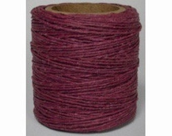 "Waxed Polyester Cord Raspberry Maine Thread .040"" 1mm cord Waxed Cord Bracelets Wrap Bracelets Made in the USA One Spool 70 yards"