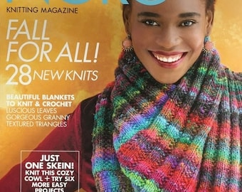 25% OFF Noro Knitting Magazine Fall for All 28 New Knits One Skein Projects Blankets Wraps Knit Crochet Issue 13