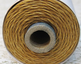 Butterscotch Waxed Linen Cord 4 ply 10 yards for Macrame Kumihimo Knotting