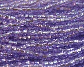 11/0 Amethyst Sol Gel Genuine Preciosa Czech Glass Rocaille Seed Beads 18 grams