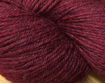 Garnet Red Mirasol Huni 219 yards Worsted Weight 100 grams 100% Fine Peruvian Highland Wool color 1009