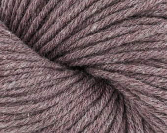 Rebound Black Plum Eco Friendly Yarn by Cascade Recycled Cotton Polyester Purple Worsted Weight 100 grams 164 yards Color 05