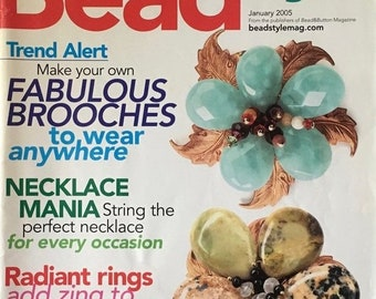 25% OFF Bead Style Magazine 30 Plus Easy Jewelry Projects Brooches Radiant Rings Necklace Mania January 2005