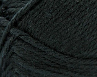 Black Cascade Pacific Merino 213 yards Wool and Acrylic Yarn color 48