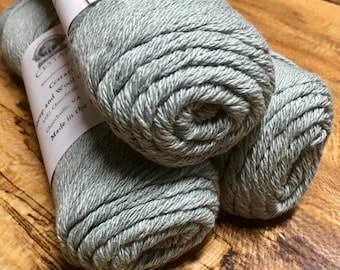 Cestari Green Heather Ashlawn Collection Cotton Wool 3 ply DK Weight 250 yards Pull Skein Made in the USA