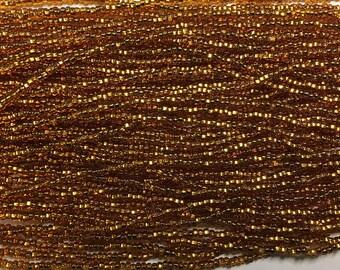 11/0 Topaz Silver Lined Genuine Czech Glass Preciosa Rocaille Seed Beads 17grams SB11-17090