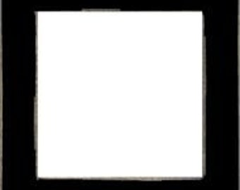 """Frame Mill Hill Matte Black Solid Color Hand Painted Wooden Frame 6"""" x 6"""" GBFRM1"""