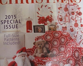 ON SALE Annies Christmas 2015 Special Issue Hands On Crafts Crochet Cross Stitch Paper Craft Knit Sewing Quilting Full Sized Patterns