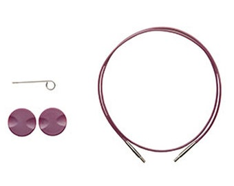 32 Inch Options Interchangeable Circular Knitting Needle Cables Purple Single Pack 90806
