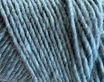 Lambs Pride Brown Sheep Blue Magic Wool Mohair 3 ply Worsted Weight 190 yards Pull Skein Made in the USA Color M77
