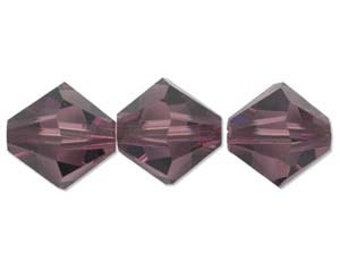 Amethyst 4mm Bicone 5328 Swarovski Crystal Beads 48 beads
