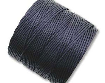 S-Lon #18 Bead Cord Navy Tex 210 Multi Filament Twisted Nylon Cord 77 yards